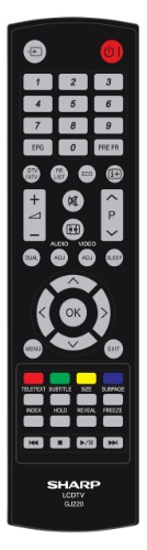 Replacement remote control -  SHA/RMC/0001 - SHA/RMC/0001