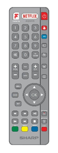 Replacement remote control - SHW/RMC/0122 - RF - SHW/RMC/0122