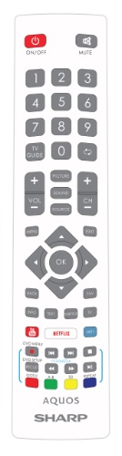 Replacement remote control - SHW/RMC/0124 - White - SHW/RMC/0124