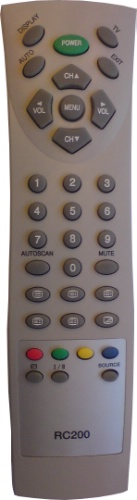 Replacement remote control - N20/REM/0001 - N20/REM/0001